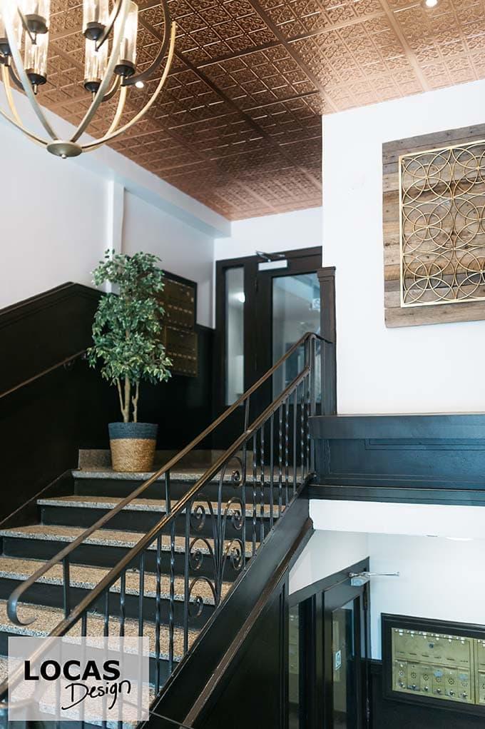 plafond cuivre