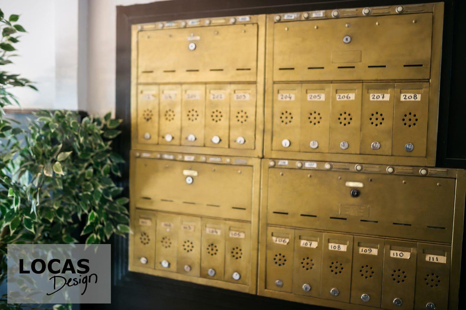 gold letter box