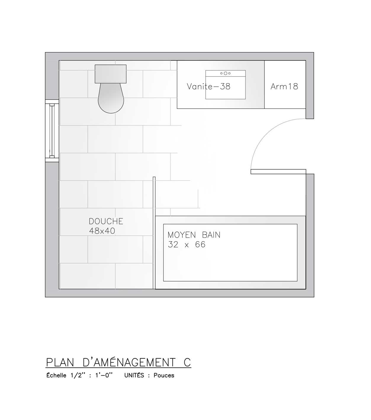 plan pour salle de bain
